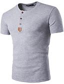 זול חולצות פולו לגברים-גיאומטרי רזה סגנון רחוב Polo - בגדי ריקוד גברים / שרוולים קצרים