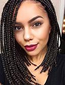 preiswerte Modische Uhren-Synthetische Lace Front Perücken Glatt Synthetische Haare Natürlicher Haaransatz / Seitenteil Schwarz Perücke Damen Medium Spitzenfront