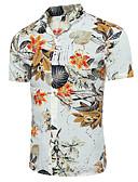 baratos Camisas Masculinas-Homens Camisa Social Quadriculada Colarinho Clássico Delgado