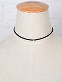 billiga Damklänningar-Dam Enkel slinga Chokerhalsband - Bergkristall, Diamantimitation Rosett Europeisk, Minimalistisk Stil, Mode Svart Halsband Till Party, Dagligen, Casual
