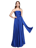 cheap Bridesmaid Dresses-A-Line Floor Length Jersey Bridesmaid Dress with Criss Cross / Pleats by LAN TING BRIDE® / Convertible Dress