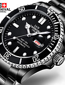 cheap Sport Watches-Carnival Men's Wrist Watch / Mechanical Watch Casual Watch / Cool Stainless Steel Band Fashion Black / Automatic self-winding