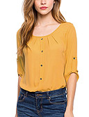 cheap Women's Dresses-Women's Casual Blouse - Solid Colored