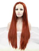 cheap Women's Dresses-Synthetic Lace Front Wig Straight Synthetic Hair Heat Resistant / Natural Hairline Red Wig Women's Lace Front