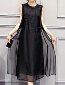 olcso Molett ruhák-Női Alkalmi Extra méret Nadrág - Egyszínű Fehér