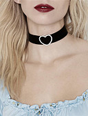 cheap Men's Exotic Underwear-Women's Choker Necklace - Rhinestone Heart Ladies, Personalized, Fashion, Euramerican Black Necklace Jewelry For Party, Special Occasion, Business