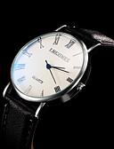 preiswerte Armband-Uhren-Damen Sportuhr / Modeuhr / Kleideruhr Großes Ziffernblatt Echtes Leder Band Charme Schwarz / Weiß / Braun