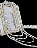 cheap Robes & Sleepwear-Women's Long Layered Necklace / Pearl Strands / Pearl Necklace - Pearl Bridal, Multi Layer, Long White Necklace Jewelry 1pc For Wedding, Party, Special Occasion