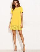 preiswerte Bedruckte Kleider-Damen Etuikleid Hülle Kleid Solide Hohe Hüfthöhe