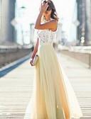 baratos Vestidos Baile Formatura-Mulheres Tamanhos Grandes Algodão Solto Vestido - Renda, Sólido Gola Redonda Longo / Outono