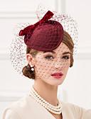 ieftine Cămașă-Lână Net Diadema-Nuntă Ocazie specială Informal Birou & carieră Pălărioare Pălării/Căciuli Voaluri Plasă 1 Bucată