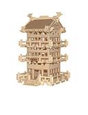 Недорогие Армейские часы-3D пазлы Наборы для моделирования Деревянные игрушки Китайская архитектура Дерево Универсальные Игрушки Подарок