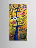 levne Dámské šaty-Digitálně vytištěné reprodukce Abstraktní Styl Moderní, Jeden panel Plátno Vertikální Grafika Wall Decor Home dekorace