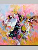 baratos Camisetas & Regatas Masculinas-Pintura a Óleo Pintados à mão - Abstrato Estilo Europeu Modern Tela de pintura