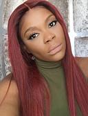 billige Sexet dametøj-Remy hår Blonde Front Paryk Lige 130% Massefylde 100 % håndbundet Afro-amerikansk paryk Natural Hairline Ombre-hår Kort Medium Lang Dame