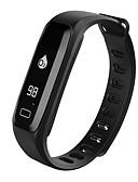 baratos Pulseiras Smart & Monitores Fitness-Pulseira inteligente iOS Android Tela de toque Monitor de Batimento Cardíaco Impermeável Calorias Queimadas Pedômetros Tora de Exercicio