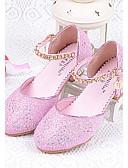 preiswerte Kleider für die Blumenmädchen-Mädchen Schuhe Glanz Sommer Komfort High Heels Glitter für Silber / Blau / Rosa