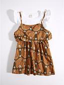 preiswerte Kleidersets für Mädchen-Mädchen Kleidungs Set Alltag Geometrisch Baumwolle Sommer Khaki
