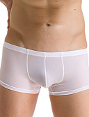cheap Men's Underwear & Socks-Men's Ice Silk Sexy Boxer Briefs Solid Colored 1 Piece