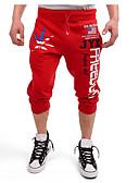 זול מכנסיים ושורטים לגברים-מכנסיים אותיות משוחרר צ'ינו כותנה פעיל בגדי ריקוד גברים