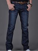 abordables Pantalones y Shorts de Hombre-Hombre Básico Corte Ancho / Vaqueros Pantalones - Un Color