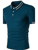 cheap Men's Polos-Men's Street chic Polo - Striped Shirt Collar