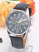 baratos Relógios Militares-Homens Relógio de Pulso Venda imperdível Couro Banda Casual / Fashion Preta / Branco / Vermelho