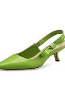 povoljno Maxi haljine-Žene Cipele na petu Stiletto potpetica Krakova Toe Lakirana koža / Mikrovlakana Udobne cipele / Inovativne cipele Crn / Crvena / Zelen / Zabava i večer / Zabava i večer