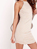 preiswerte Damen Kleider-Damen Bodycon Kleid Gestreift Mini Bateau