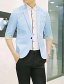 cheap Men's Shirts-Men's Slim Blazer-Color Block,Patchwork Notch Lapel / Please choose one size larger according to your normal size.