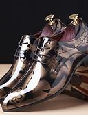 お買い得  タキシード-男性用 オックスフォード印刷 エナメル 春 / 秋 オックスフォードシューズ レッド / ブルー / ライトブラウン / パーティー / パーティー / アウトドア / コンフォートシューズ