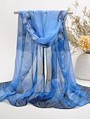billige Modetørklæder-Dame Sødt Fest Rektangulær - Polyester Chiffon