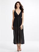 abordables Vestidos de Mujer-Mujer Corte Swing Vestido - Separado, Un Color Maxi