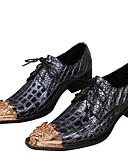 ieftine Pălării Bărbați-Bărbați Pantofi formali Nappa Leather Primăvară / Toamnă Oxfords Auriu / Party & Seară