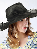 billige Moderigtige hatte-Dame Bøllehat / Solhat - Polyester Blomsterstil, Helfarve