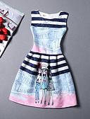cheap Women's Dresses-Women's Holiday / Beach Cotton A Line Dress Print