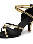 cheap Women's Tanks-Women's Latin Shoes Synthetic Heel Customized Heel Customizable Dance Shoes Red / Blue / Dark Brown / Indoor