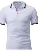 baratos Camisetas & Regatas Masculinas-Homens Camiseta Sólido Algodão Colarinho de Camisa