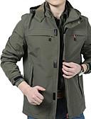 זול גברים-ג'קטים ומעילים-אחיד צווארון חולצה ג'קט - בגדי ריקוד גברים / שרוול ארוך