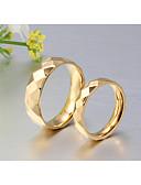 preiswerte Exotische Herrenunterwäsche-Paar Eheringe / Bandring / Ring - 18K vergoldet Klassisch, Simple Style, Elegant 5 / 6 / 7 Gold Für Hochzeit / Party / Jahrestag / Geburtstag / Abschluss / Alltag