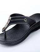preiswerte Modische Uhren-Herrn Schuhe Leder Sommer Komfort Slippers & Flip-Flops Schwarz / Braun