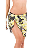 cheap Women's Swimwear & Bikinis-Women's Floral / Mesh / Boho Yellow Rainbow Royal Blue Bottoms Swimwear Print One-Size