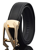 cheap Fashion Belts-Men's Work Wedding Belt Leather Alloy Waist Belt - Solid Colored Fashion