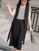 preiswerte Damen zweiteilige Anzüge-Damen Arbeit Ausgehen Stützen T-shirt - Solide Gestreift Hose
