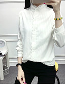 رخيصةأون قمصان نسائية-للمرأة قميص يوميا كاجوال, سادة رقبة العمل قطن