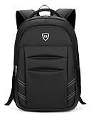 cheap Men's Shirts-Men's Bags Oxford cloth Backpack Smooth Black