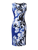 cheap Women's Dresses-Women's Bodycon Dress - Graphic Print High Rise / Summer / Floral Patterns