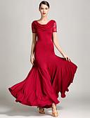 cheap Wedding Dresses-Ballroom Dance Dresses Women's Performance Lace Tulle Milk Fiber Pendant Short Sleeve Natural Dress