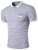baratos Camisetas & Regatas Masculinas-Homens Polo Fofo Moda de Rua Sólido Algodão Colarinho de Camisa