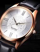 abordables Relojes de Vestir-YAZOLE Hombre Reloj de Pulsera Reloj Casual / Cool Piel Banda Flor / Casual / Moda Negro / Marrón / SSUO 377